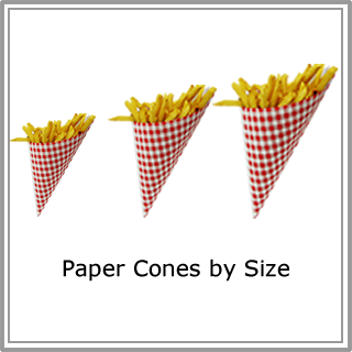Paper Cones by Size