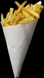 White Paper Cones. 1000 Cones. XX Large Size K-21, holds 14.5 oz